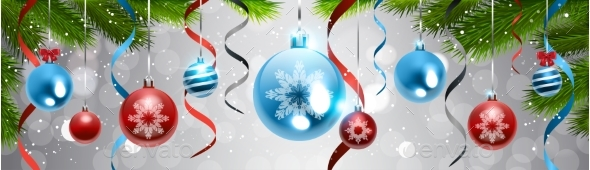 Christmas Decoration Background Pine Tree Branch - Christmas Seasons/Holidays