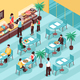 Veggie Cafe Isometric Illustration - GraphicRiver Item for Sale