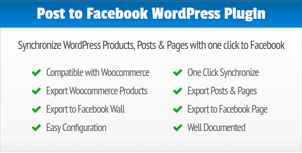 Post to Facebook Synchronize WordPress Posts, Pages and Products to your Facebook Wall and Page - CodeCanyon Item for Sale
