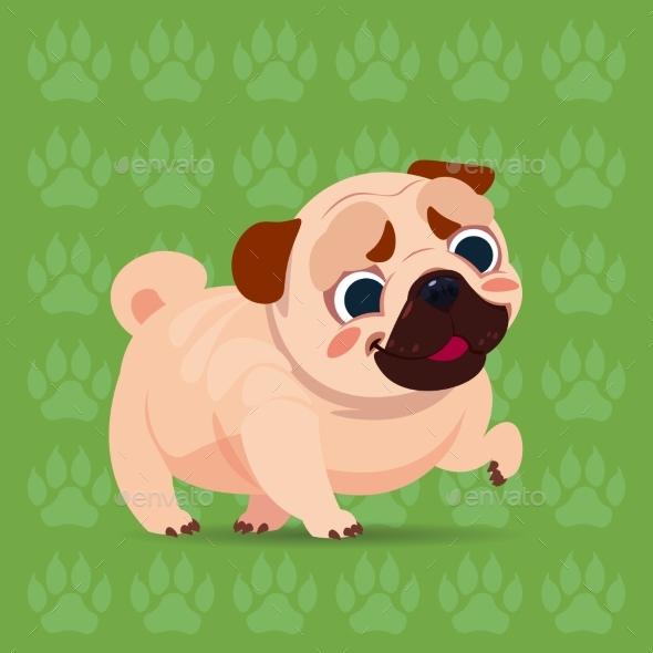 GraphicRiver Pug Cartoon 21143740