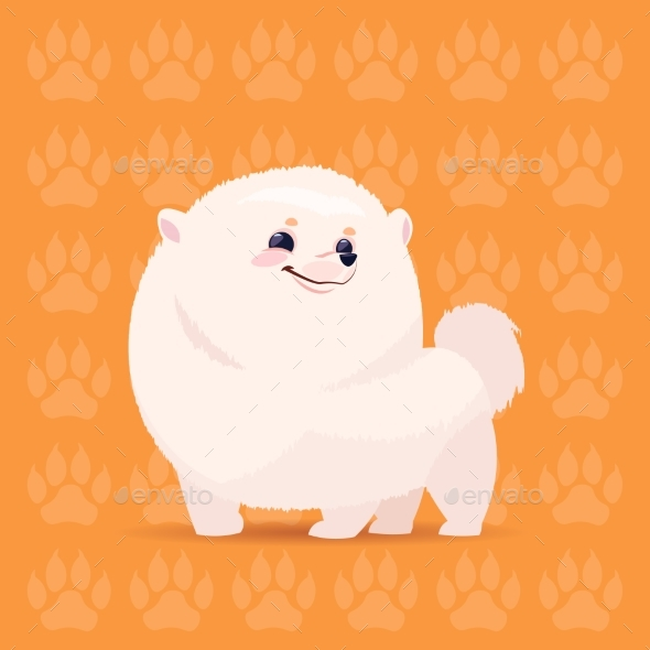 Pomeranian Cartoon Dog - Animals Characters