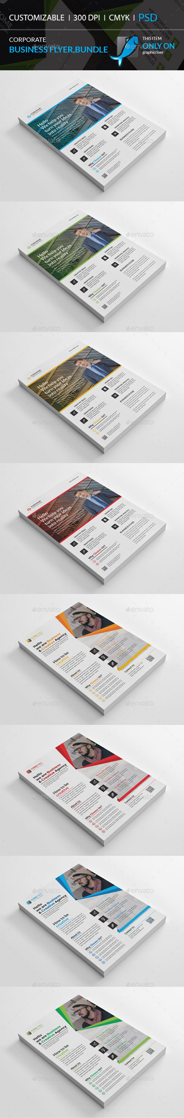 GraphicRiver Corporate Flyer Bundle 21143804