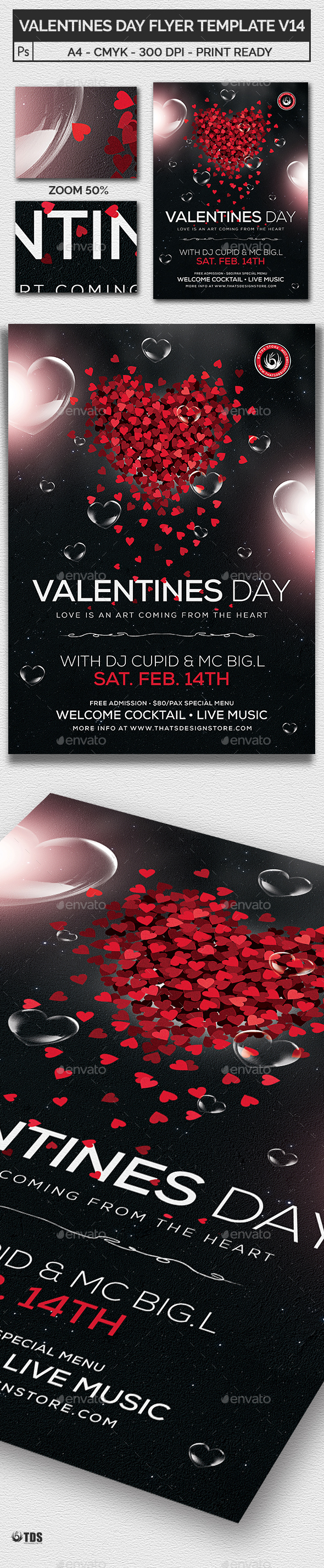 GraphicRiver Valentines Day Flyer Template V14 21143835