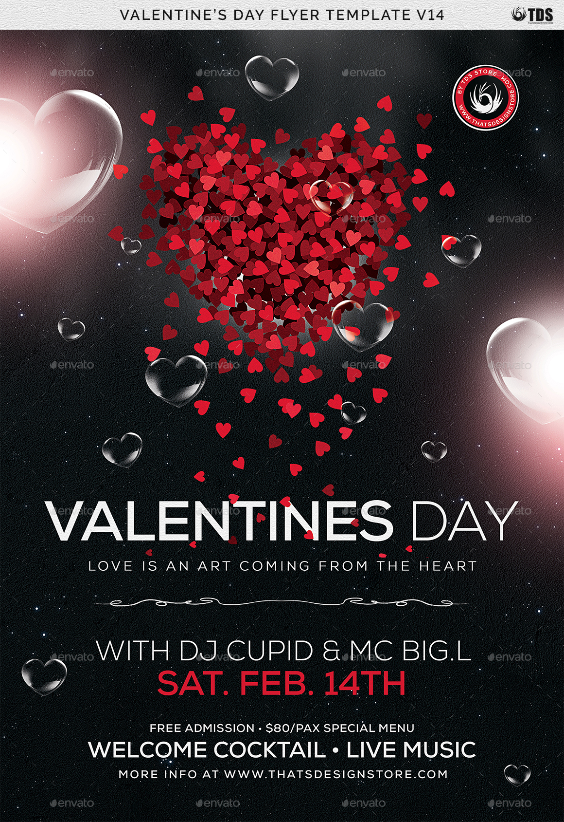 Valentines Day Flyer Template V14 By Thatsdesign Graphicriver