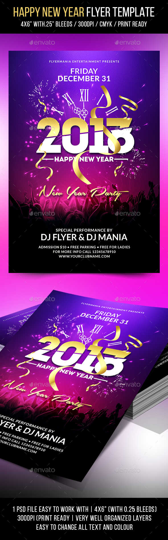 Happy New Year Flyer Template - Events Flyers