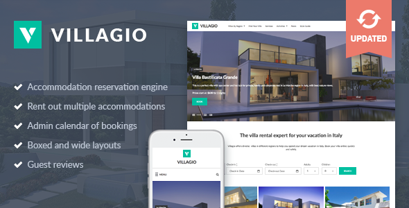 Image of Villagio - Property Rental WordPress Theme