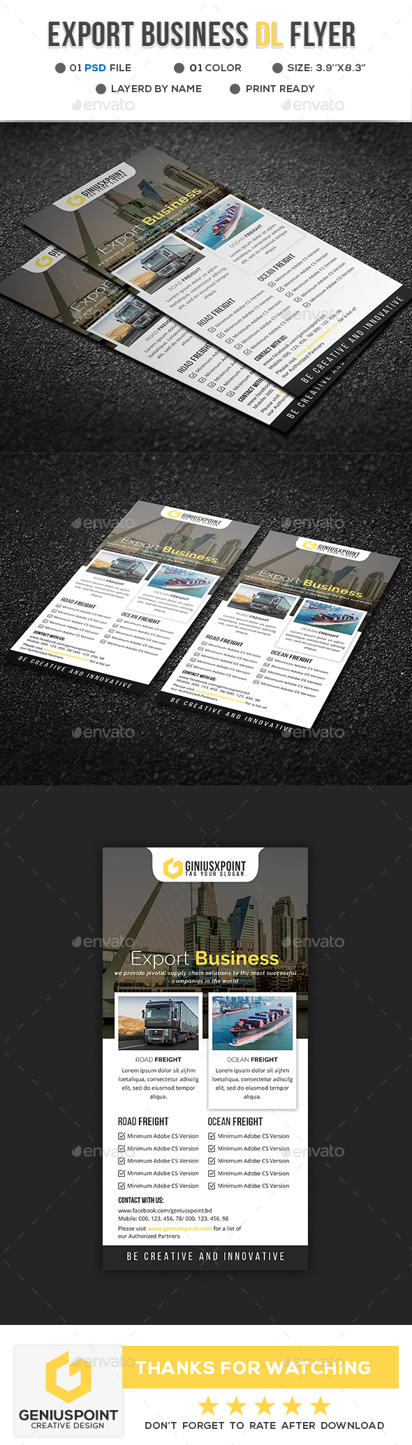 Export Business DL Flyer - Flyers Print Templates
