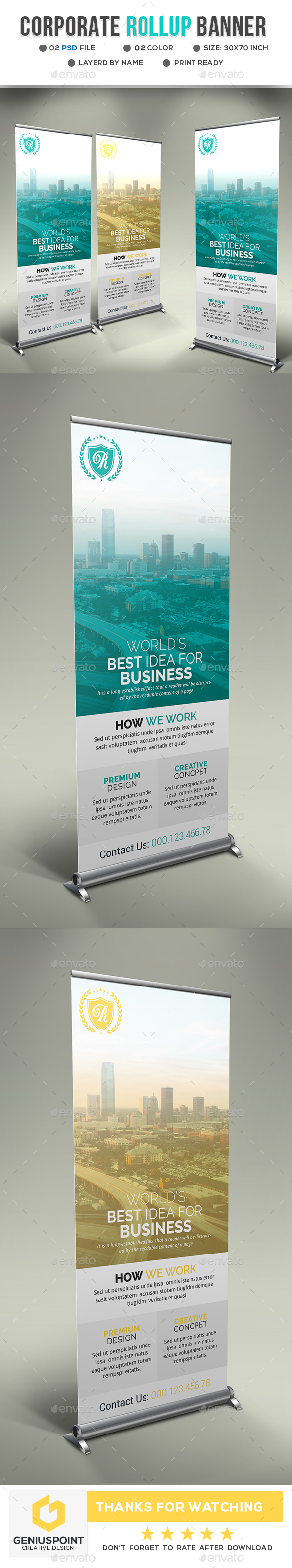 GraphicRiver Corporate Roll-Up Banner 21143963