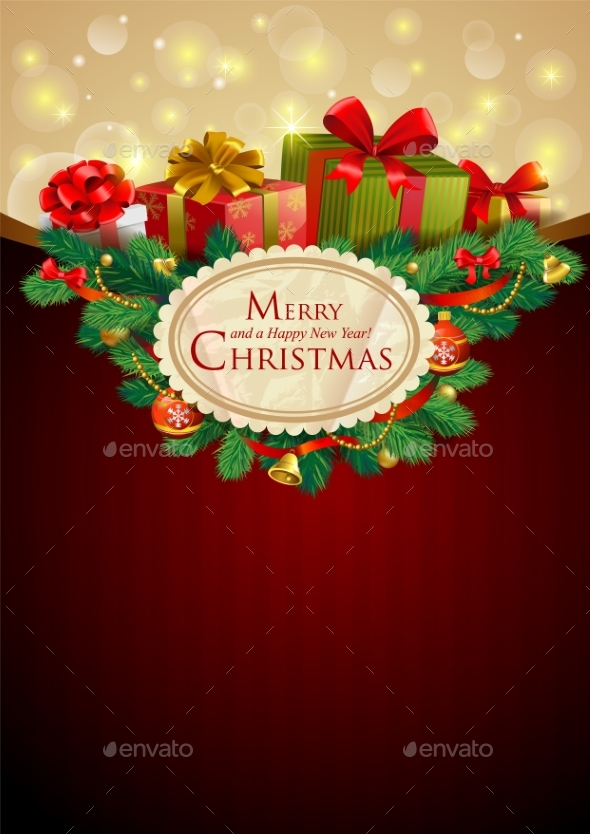 Christmas Festive Background - Backgrounds Decorative