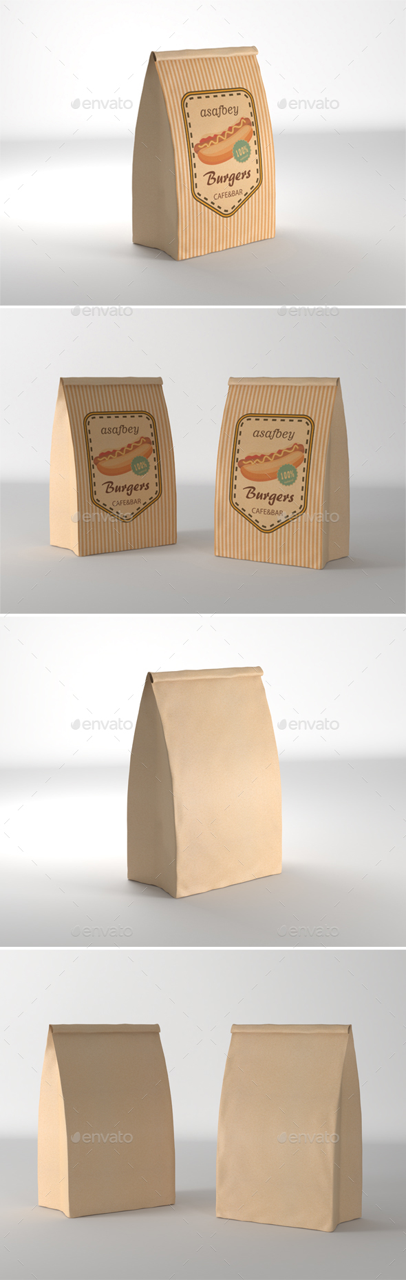 Craft Bag Mockup - Product Mock-Ups Graphics