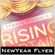 Rising Curtains New Year Flyer