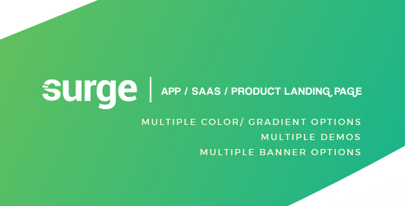 Download Surge - App / SAAS /  Software / Product Template            nulled nulled version