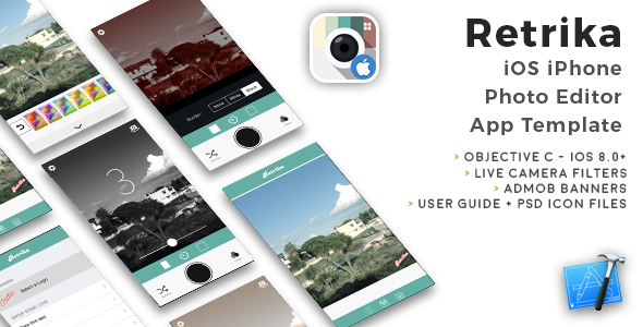 Retrika | iOS iPhone Live Photo Filter App Template (Obj-C) - CodeCanyon Item for Sale