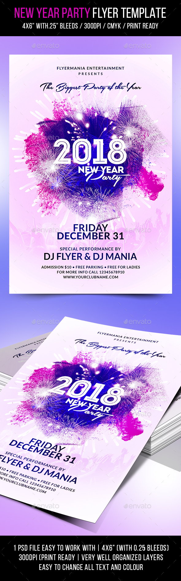 GraphicRiver New Year Party Flyer Template 21144075