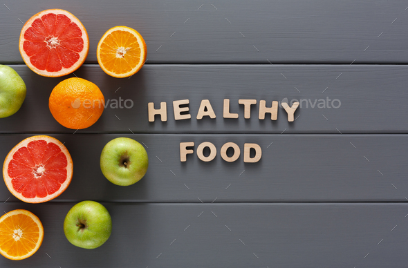 Healthy food and slimming background copy space - Stock Photo - Images