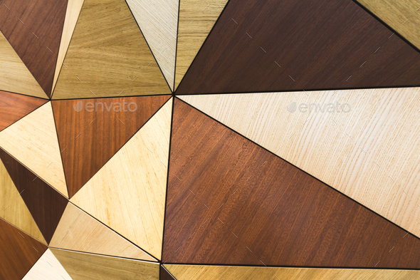Mosaic pattern of wooden wall, copy space - Stock Photo - Images
