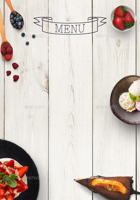 Black board as mockup for restaurant menu - Stock Photo - Images