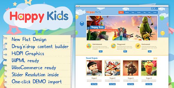 Happy Kids - Children WordPress Theme - Education WordPress