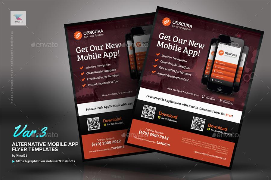 Alternative Mobile App Flyer Template