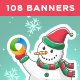 Christmas Sale Banners Bundle - 6 Sets - 108 Banners