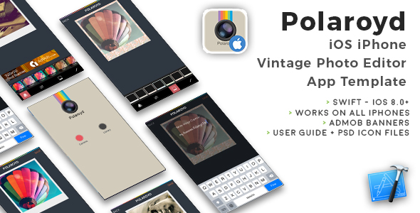 Polaroyd | iOS iPhone Photo App Template (Swift) - CodeCanyon Item for Sale