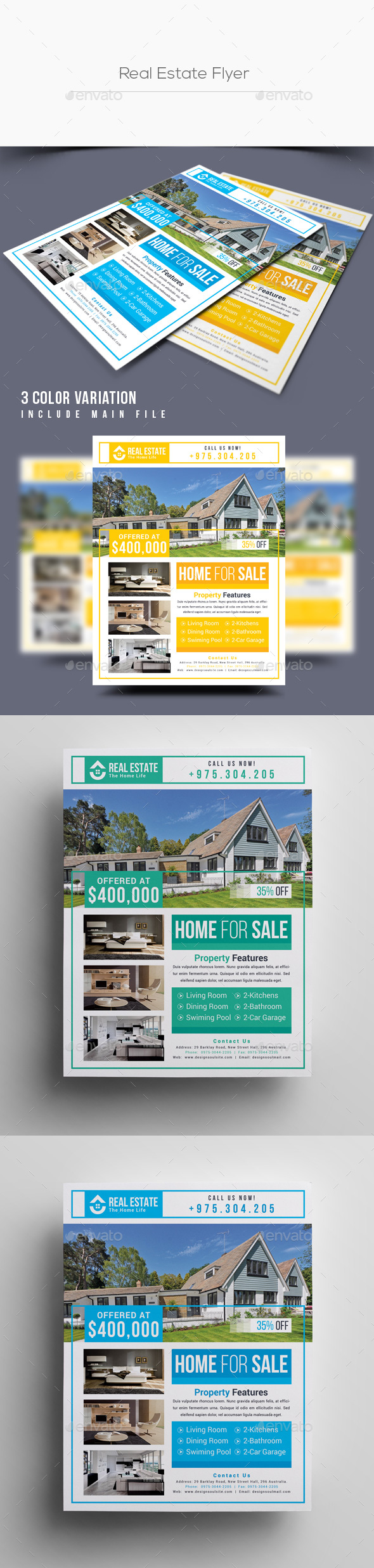GraphicRiver Real Estate Flyer 21144316