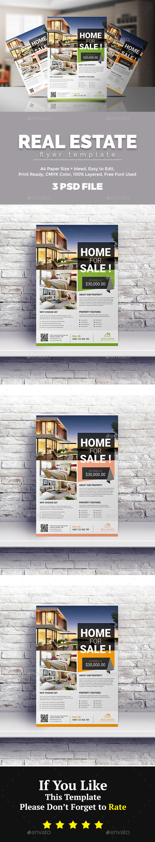 GraphicRiver Real Estate Flyer 21144323