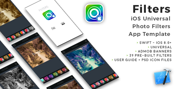 Filters | iOS Universal Photo Filters App Template (Swift) - CodeCanyon Item for Sale