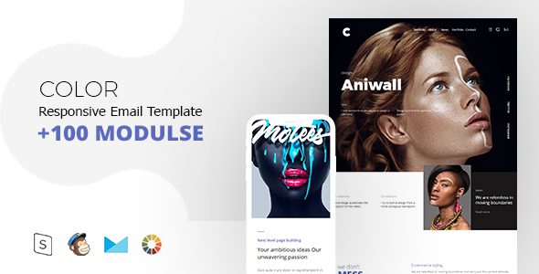 ThemeForest Color Mail Responsive Email Template Minimal 21144364