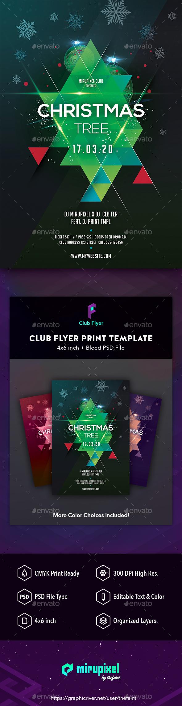 GraphicRiver Club Flyer Christmas Tree 21144368