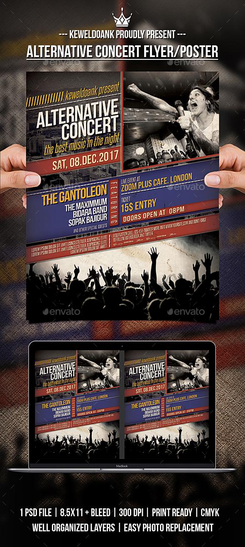 GraphicRiver Alternative Concert Flyer Poster 21144471