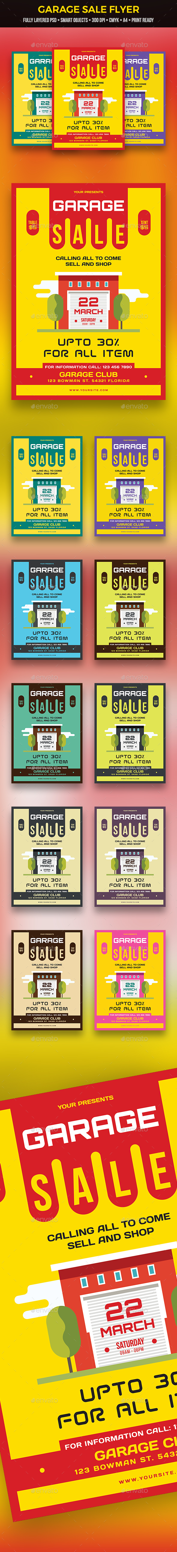 GraphicRiver Garage Sale Flyer 21144597