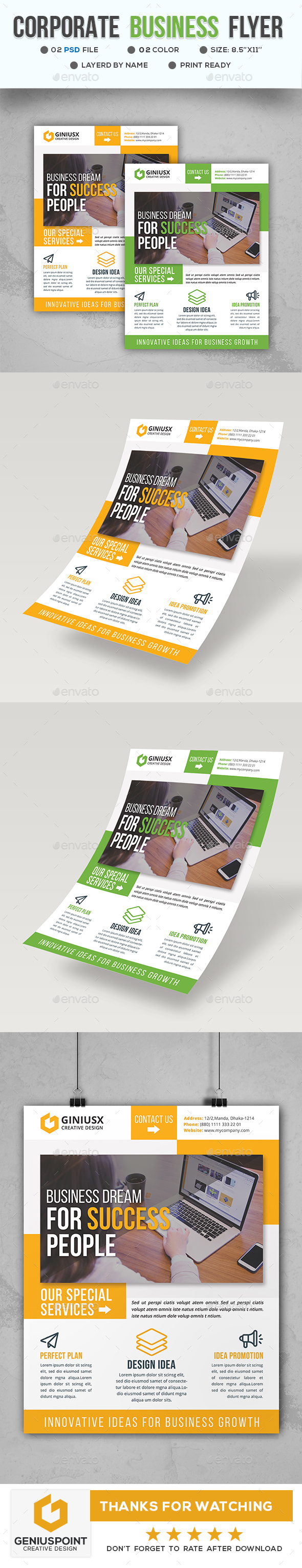 GraphicRiver Corporate Business Flyer 21144820