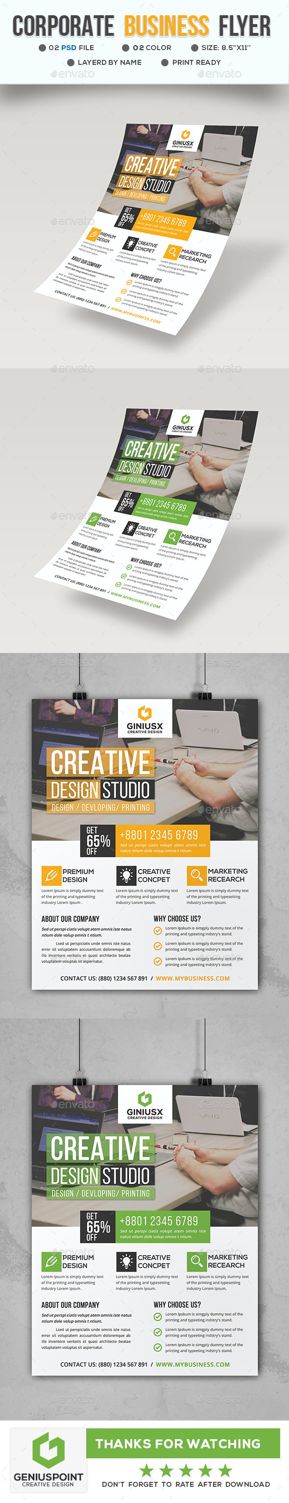 GraphicRiver Corporate Business Flyer 21144840