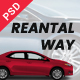 Rental Way - Car & Truck Rental, PSD Template