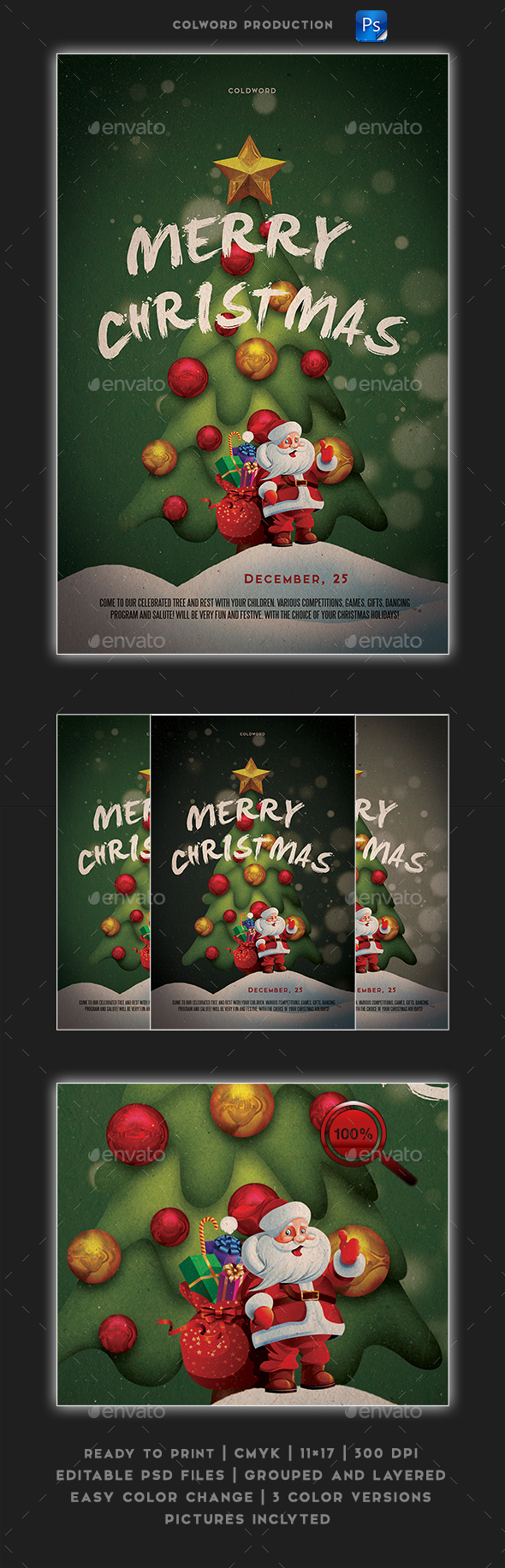 GraphicRiver Merry Christmas Flayer Poster 21144880