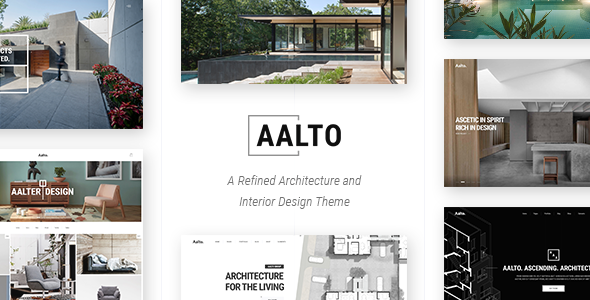 Aalto - Refined Architecture and Interior Design Theme - Portfolio Creative