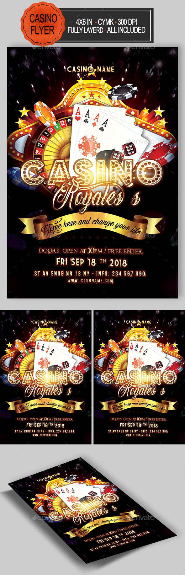 GraphicRiver Casino Flyer 21145140