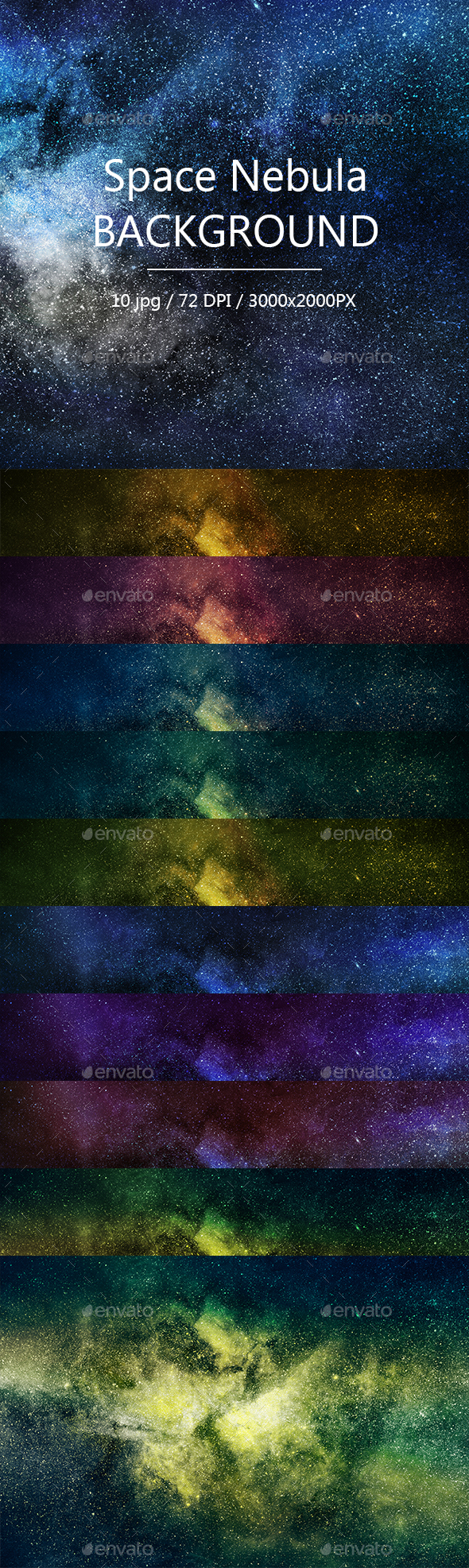 GraphicRiver Space Nebula Background 21145155