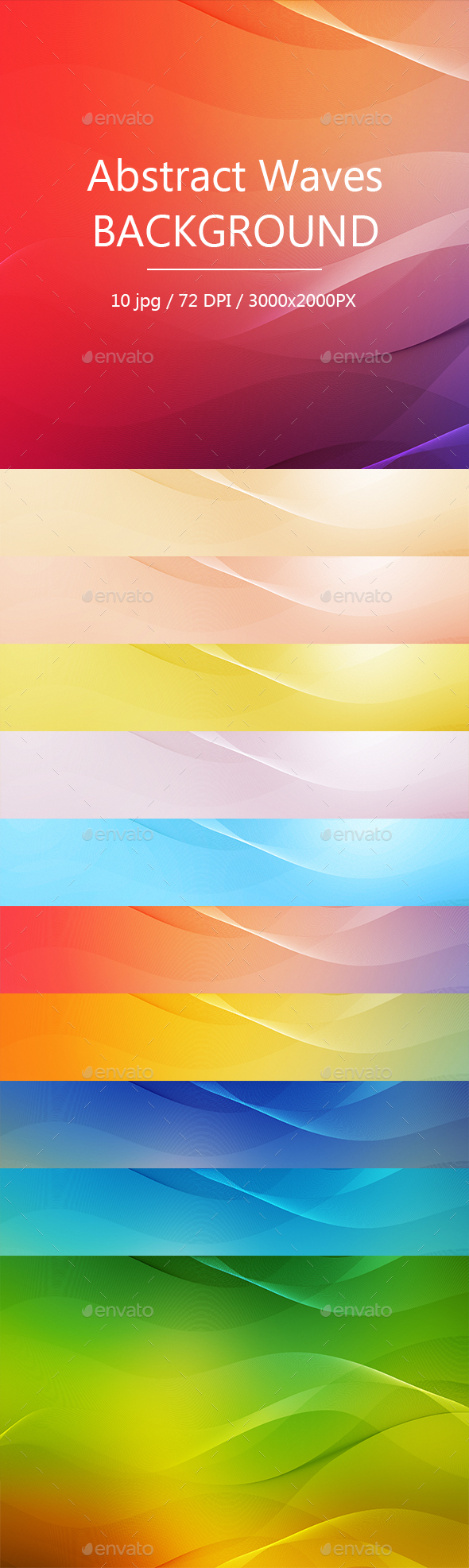 Abstract Waves Background - Abstract Backgrounds