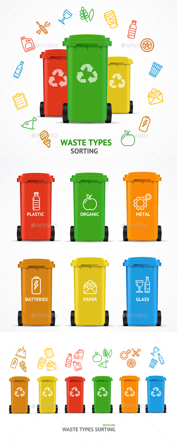 Waste Sorting Types Concept - Miscellaneous Conceptual