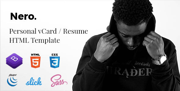 Virtual Business Card Templates From ThemeForest - Virtual business card template