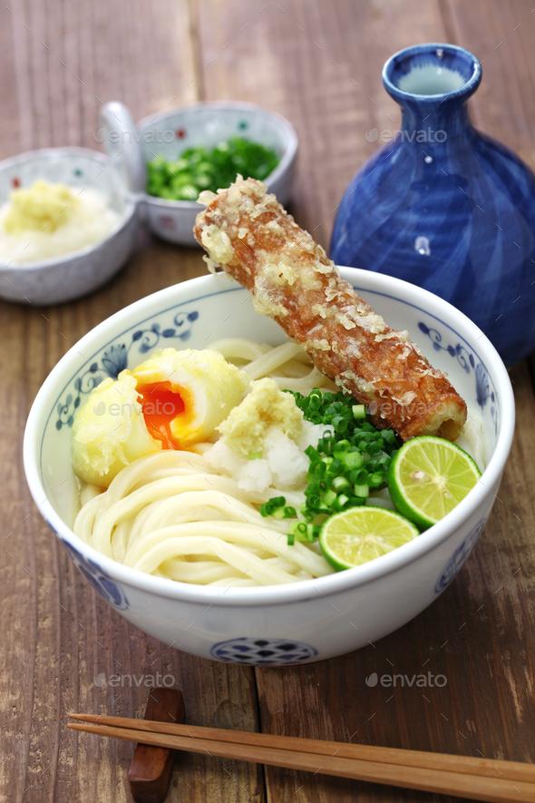 japanese Sanuki udon noodles - Stock Photo - Images