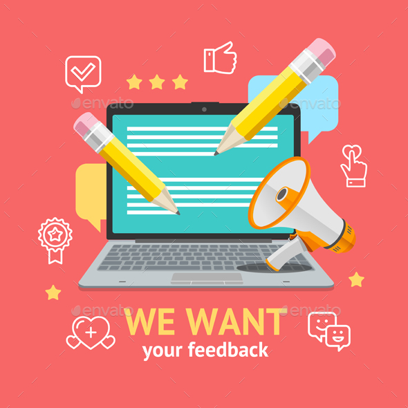 GraphicRiver We Want Feedback Concept 21145222