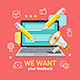 We Want Feedback Concept - GraphicRiver Item for Sale