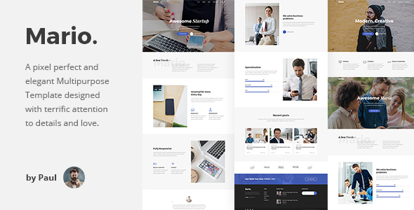 mario - multipurpose agency landing page pack (creative) Mario – Multipurpose Agency Landing Page Pack (Creative) preview jpg