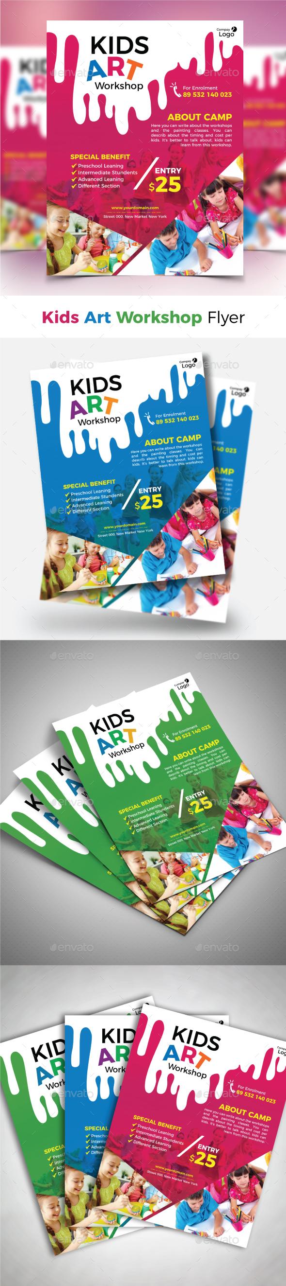 GraphicRiver Kids Art Workshop Flyer 21145416