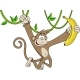 Monkey with Banana - GraphicRiver Item for Sale