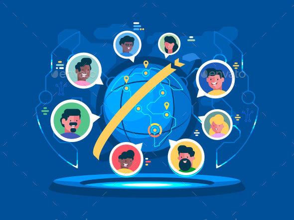 GraphicRiver Global Communication Worldwide 21145651