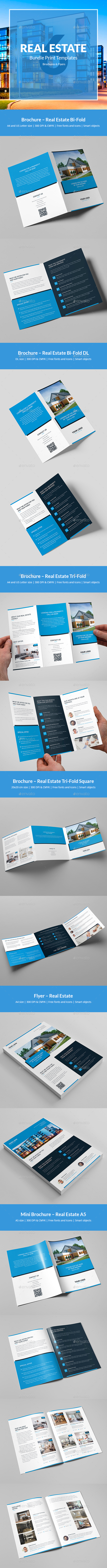 GraphicRiver Real Estate Bundle Print Templates 6 in 1 21145729